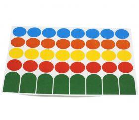 40 étiquettes 24 mm rondes autocollantes colorées pastilles en 4 couleurs
