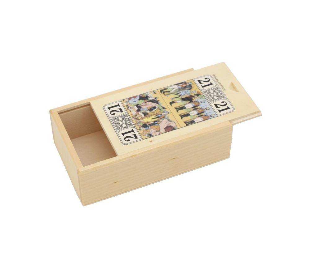 Boite bois pour jeu de tarot décoré motif vide