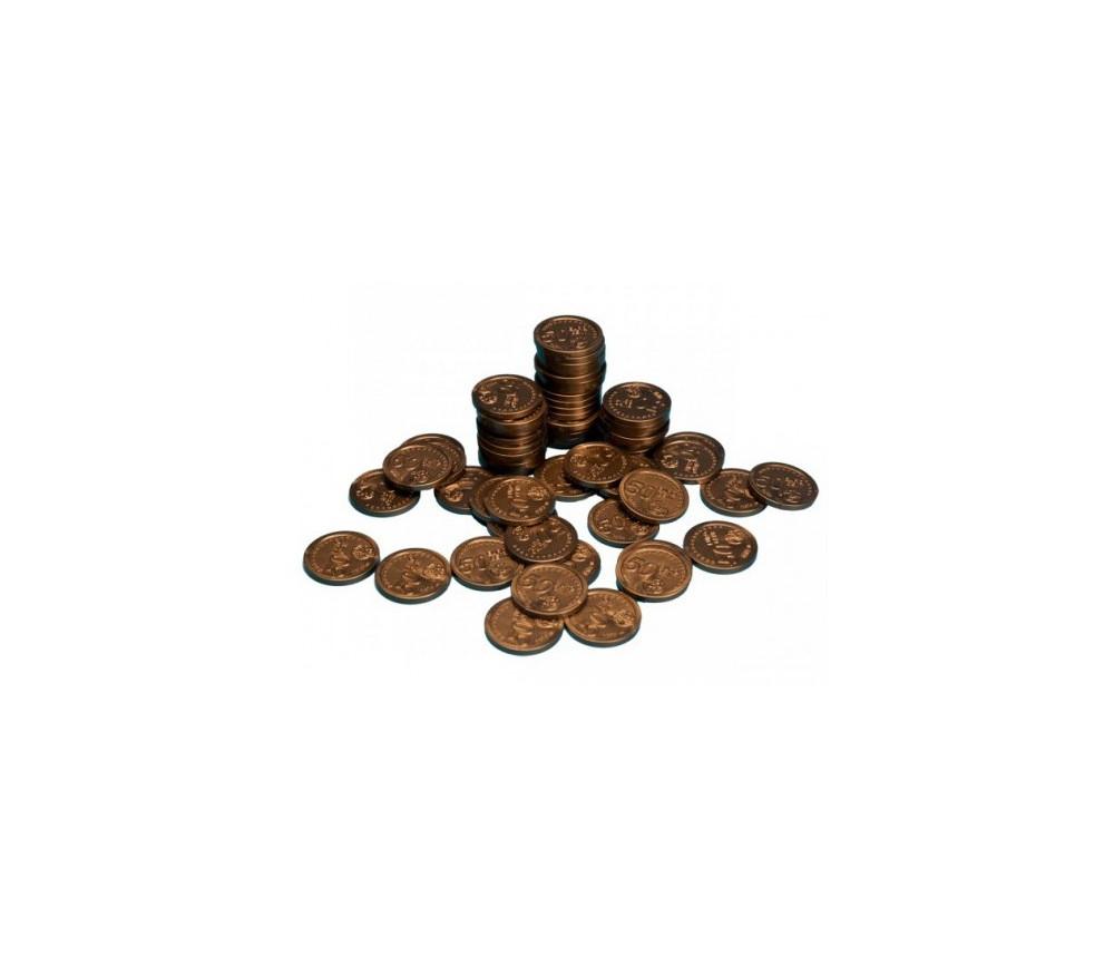 100 Pièces de 50 centimes d'euro en plastique monnaie factice jeu