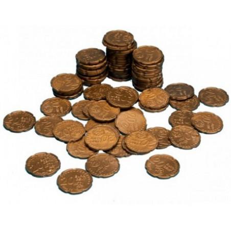 100 Pièces de 20 centimes d'euro en plastique monnaie factice jeu