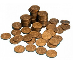 100 Pièces de 10 centimes d'euro en plastique monnaie factice jeu