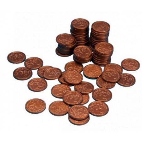 100 Pièces de 2 centimes d'euro en plastique monnaie factice jeu