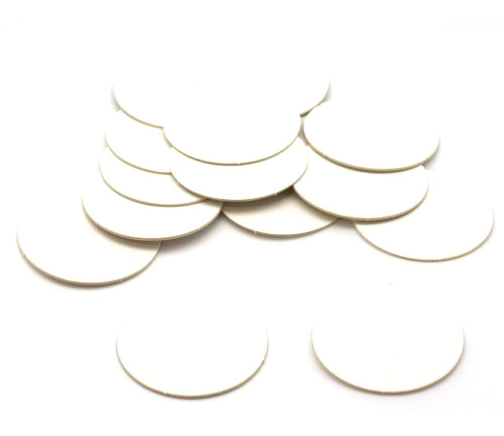 15 Tuiles rondes blancs 50 mm jetons ronds à personnaliser