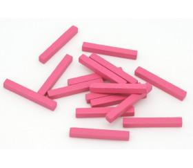Baguettes rose 5x5x39 mm pions buchettes en bois pour jeu