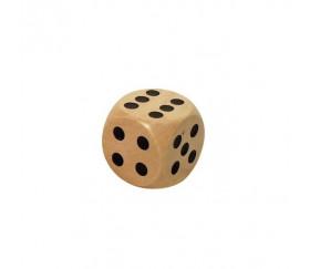 Dé en bois 16 mm de 1 à 6 pour jeu de société