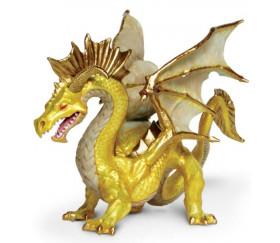 Figurine dragon doré 17 x 11 x 10,7 cm