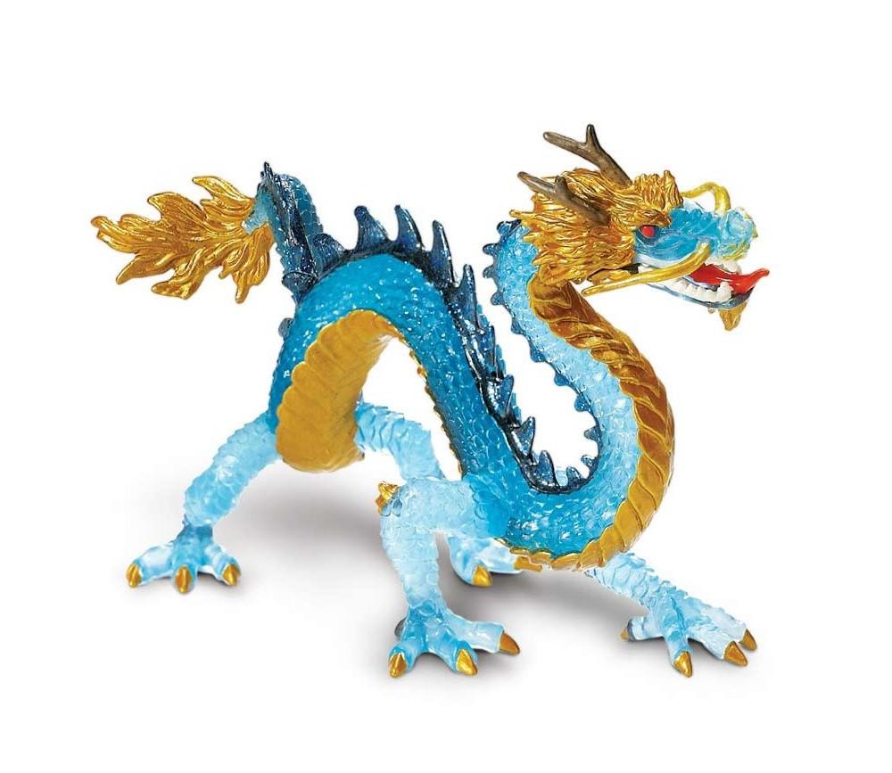 Figurine dragon bleu Krystal 20.5 x 10.6 x 8.3 cm