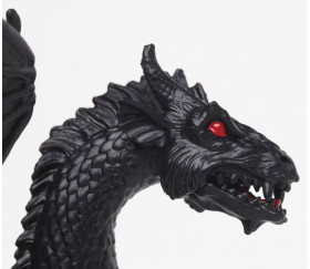 Figurine dragon noir twilight 16 x 13.1 x 9.2 cm