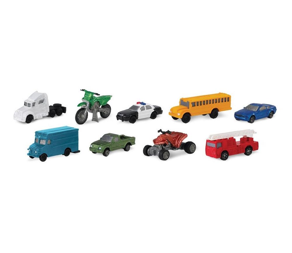 """9 véhicules figurines de jeux """"sur la route"""""""