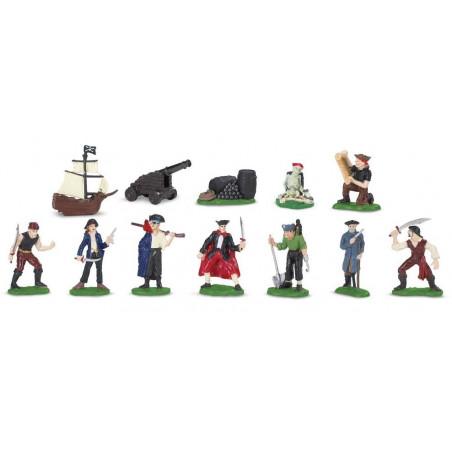 Pirate : 12 figurines de jeu pirate