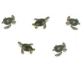 Mini mini Figurine tortue de mer  verte