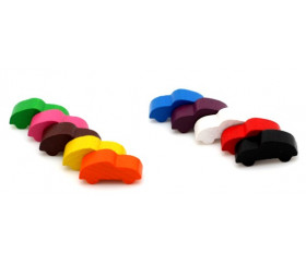Pion voiture colorée pour jeu 25 x 12 x 8 mm