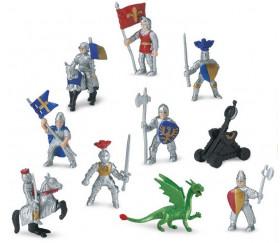 Chevaliers et dragon : 10 figurines de jeu