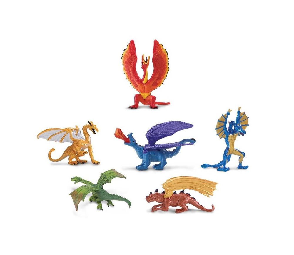 Dragons : 6 figurines dragons d'environ 6 cm