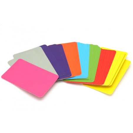 33 cartes colorés à personnaliser 59 x 91 mm
