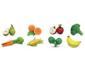 8 fruits et légumes figurines jouet d'environ 5 cm