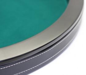 Piste de dés luxe verte et noire 40 cm tour cuir