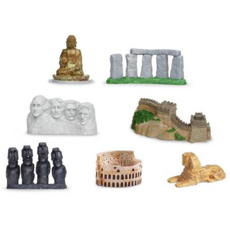 7 monuments du monde figurines jouet miniature série 2