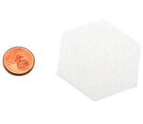 15 Tuiles épaisse hexagones blancs 50 mm vierge à personnaliser