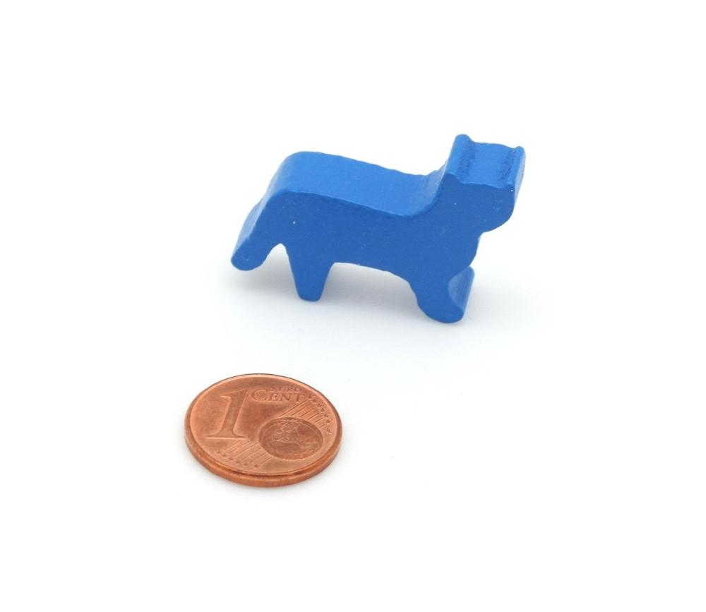 Pion Chat bleu en bois pour jeu 30x19x8 mm
