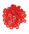 100 jetons rouges troués octogonaux pour abaque
