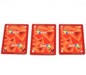 54 cartes à jouer effaçable verso rouge - recto blanc plastique