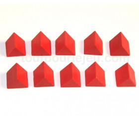10 Triangles bois 17 x 15 x 15 mm pour jeu achat en ligne