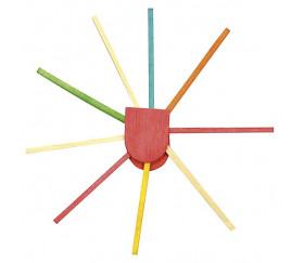 1000 allumettes 2x2x45 mm bois coloré bricolage et jeux