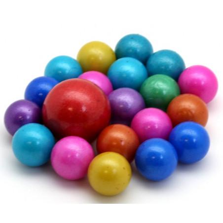 20 Billes Candy couleurs opaques pour jeu