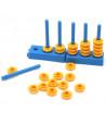 100 jetons jaunes troués octogonaux pour abaque 2.5 cm