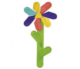50 bâtonnets colorés 11.4 x 1 x 0.2 cm bois coloré bricolage et jeux