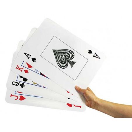 54 Cartes à jouer ULTRA GEANTE XXL 24x37 cm