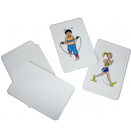 10 étiquettes autocollantes 99.1x57 mm rectangles pour cartes à jouer