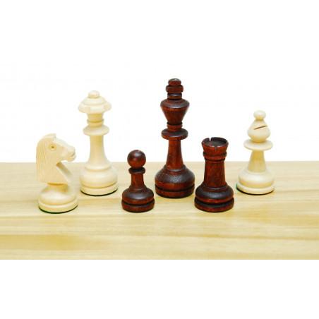 Pièces échecs bois plombées lestées coffret bois