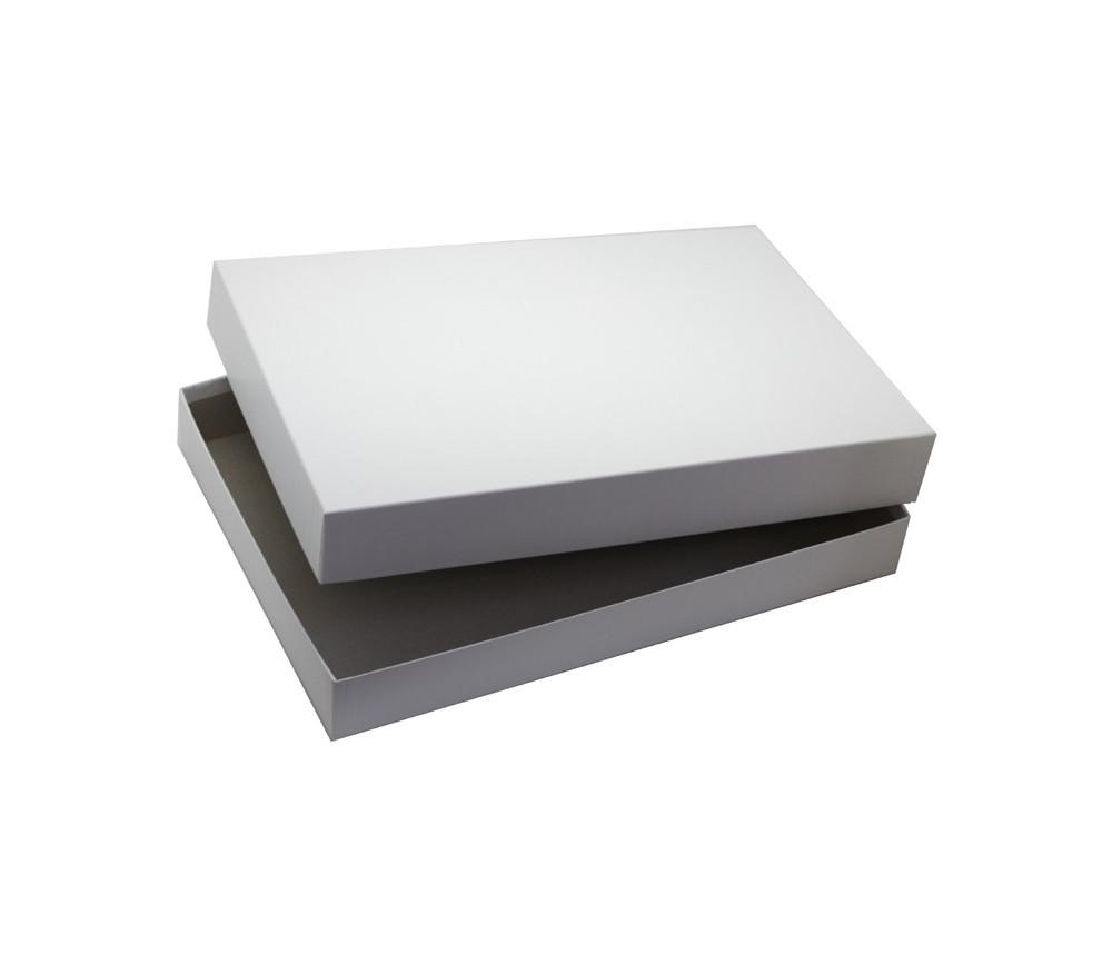 Boite rectangle grand format vide 338 x 260 x 60 mm blanche