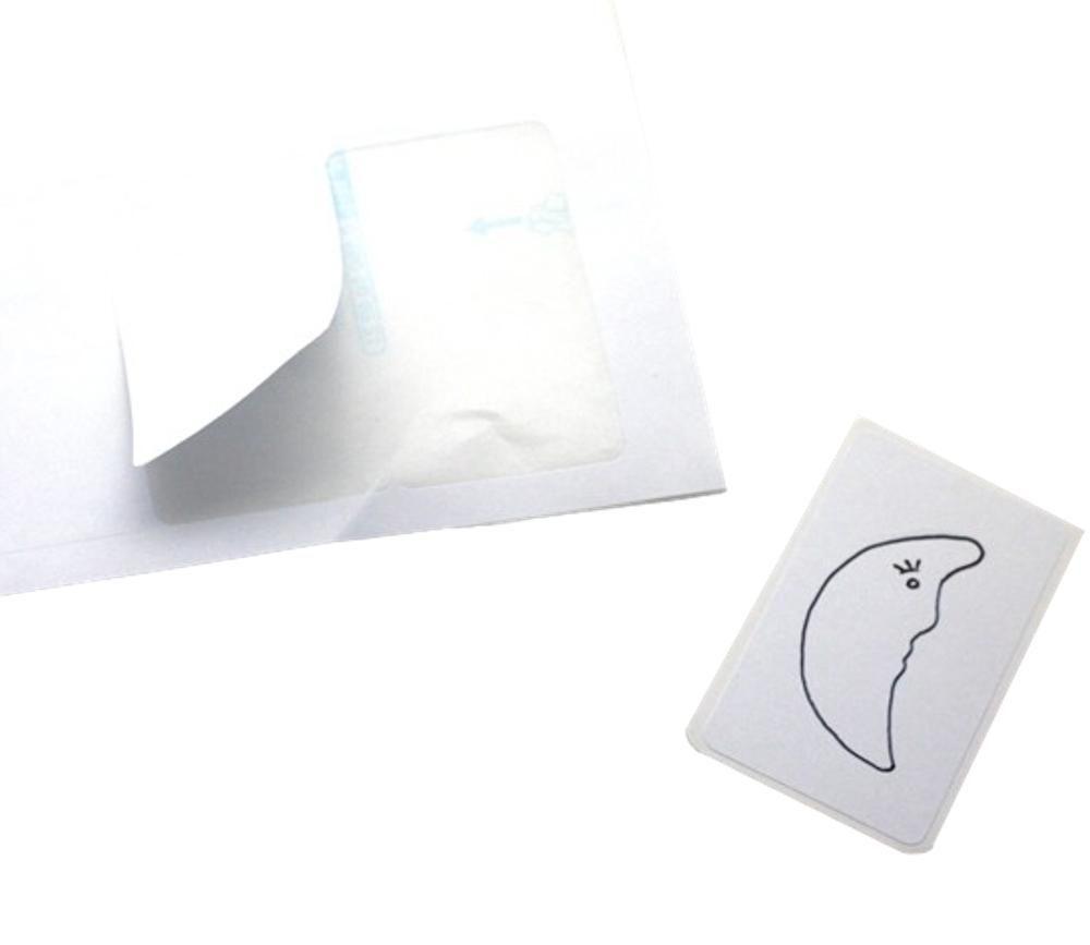 21 étiquettes autocollantes 63.5x 38.1 mm rectangles pour mini cartes à jouer