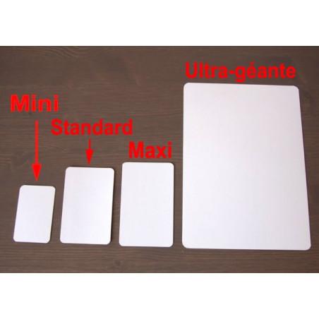 54 cartes maxi 62x100 mm blanches à personnaliser