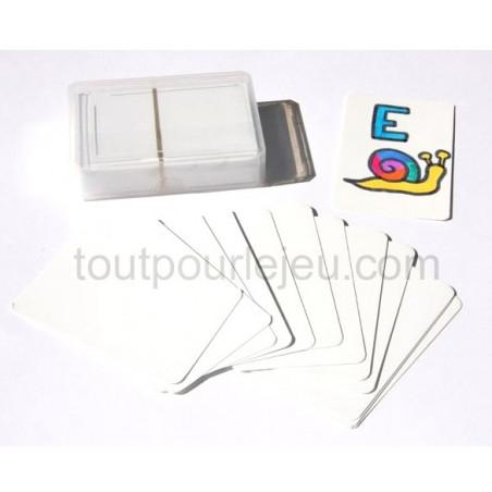 Jeu de 55 cartes blanches à personnaliser