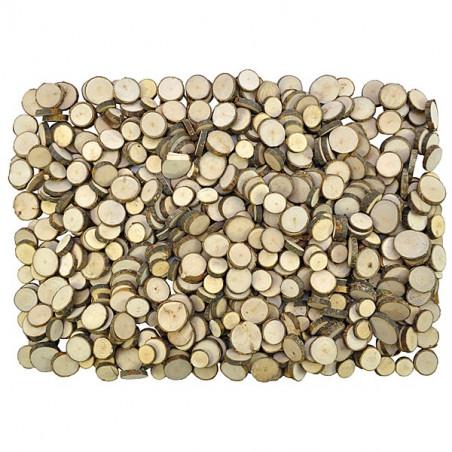 1 kg de Rondelles en bois brut avec écorce