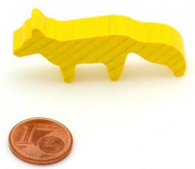 Pion renard jaune en bois