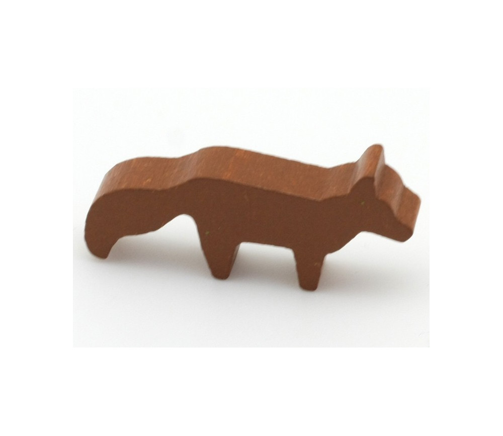 Pion renard marron en bois 45 x 20 x 8 mm