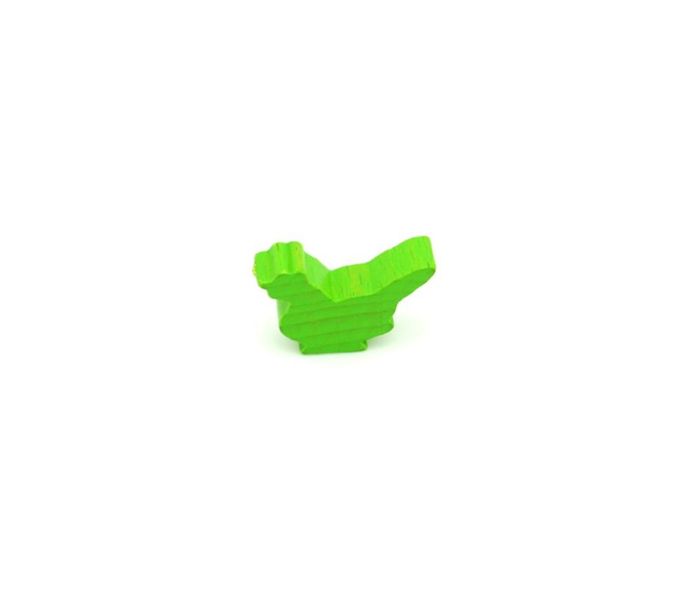 Pion poule vert clair en bois 30x 19 x 8 mm