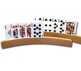 4 Portes-carte à jouer arrondis en bois de 35 cm