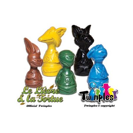 5 Pions twinples jeu Le lièvre et la Tortue