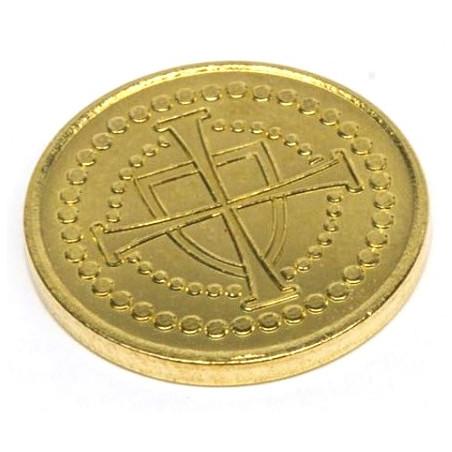 Pièce métal  doré 19 mm de diamètre