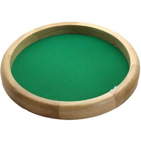 Piste dés en bois ronde 40 cm super qualité
