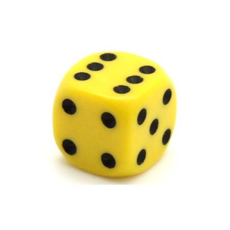 Dé jaune 14 mm de 1 à 6 pour jeu de société
