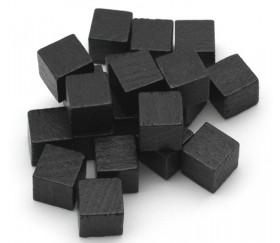 Cubes en bois 1 cm. 10 x 10 x 10 mm noir