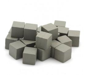 Cubes en bois 1 cm. 10 x 10 x 10 mm gris