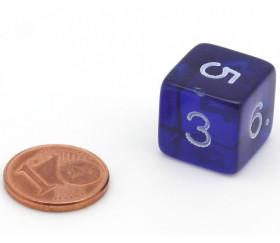 Dé translucides chiffres acrylique 15 mm